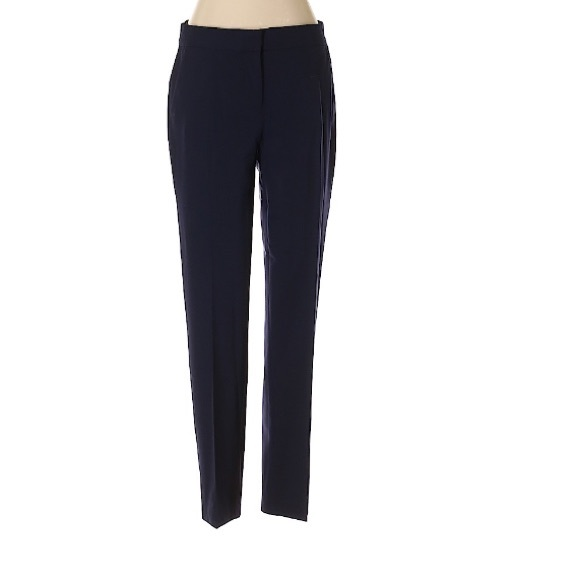 J. Crew navy low rise straight leg trousers